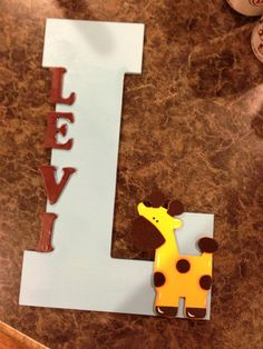 Letter for my grandsons room. Hanging Letters, Birthday Candles, Lettering, Room, Bedroom, Drawing Letters, Rooms, Rum, Peace