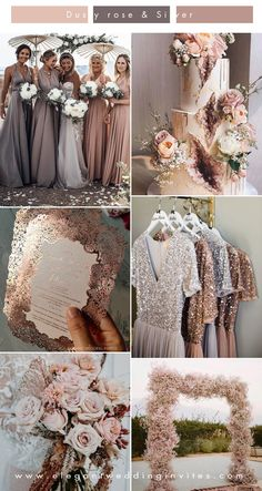 beautiful neutral shade rose gold, blush and dusty rose wedding colors themes fairytale rose gold 5 Unique Wedding Color Combos to Make Your Big Day Stand Out Unique Wedding Colors, Neutral Wedding Colors, Spring Wedding Colors, Gold Wedding Theme, Unique Weddings, Fall Wedding, Dream Wedding, Wedding Ideas For Spring, Blush Wedding Palette