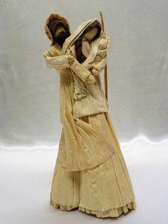 Items similar to Corn shuck nativity Corn husk nativity, corn shuck dolls, corn husk dolls on Etsy Corn Husk Crafts, Corn Husk Dolls, Christmas Makes, Diy Molding, Nativity, Statue, Vintage, Etsy, Design