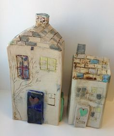 quirky ceramic houses