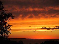 Sunset Over Leelanau State Park, Lake Michigan