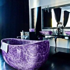 Home Remodel Cheap .Home Remodel Cheap Purple Bathrooms, Dream Bathrooms, Beautiful Bathrooms, Home Interior, Interior And Exterior, Interior Design, My New Room, My Dream Home, Home Goods