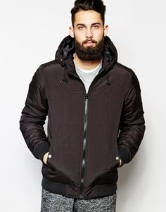 ASOS+Jacket+In+Quilted+Fabric