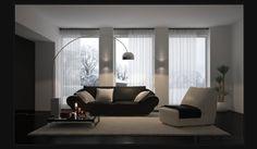 Very simple yet classy 3d Interior Design, Interior Design Inspiration, Living Room Interior, Coastal Living, Minimalist Design, Living Spaces, House Design, Indoor, House Styles