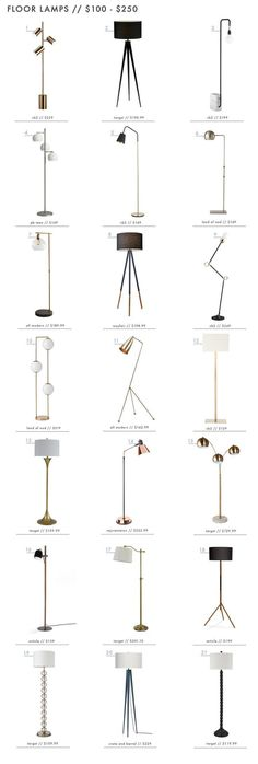 Discover these iconic floor lamps for your interior design! These standing lamps are essentials for complete your home decor and turn the space more cozy and modern. Diy Floor Lamp, Modern Floor Lamps, Bright Homes, Bedroom Lamps, Living Room Floor Lamps, Living Rooms, Unique Lamps, Lamp Design, Chair Design