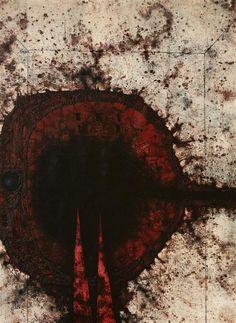 Mikuláš Medek, Příliš mnoho alkoholu I, 1964 olej na plátně, 162 x 130 cm