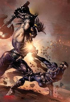 Nick Fury vs Ares by Mike Deodato Jr