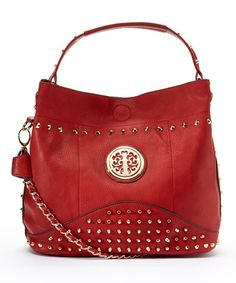 This Red Obsedia Hobo is perfect! #zulilyfinds