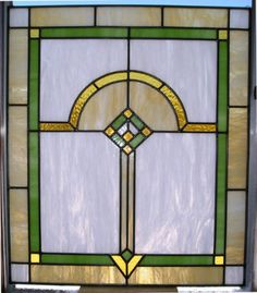 (F) Chicago Style Craftsman Prairie Stained Glass Window