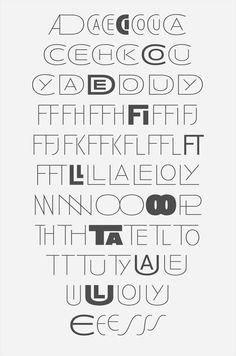 Anisette, geometric Art deco all caps 9 weights typeface by Jean François Porchez for Typofonderie