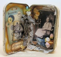 Altoid tin ~ How sweet ~ personalize this for someone and gift it!  Send it to a college kid!  Or a young one going off to camp ~ lots of different ideas!