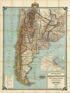 Argentina map print map vintage old maps Antique prints poster map wall home decor wall map large map old prints South America map Argentina South America, South America Map, Central America, Map Globe, Argentine, Wall Maps, Vintage Maps, Antique Prints, Poster Prints