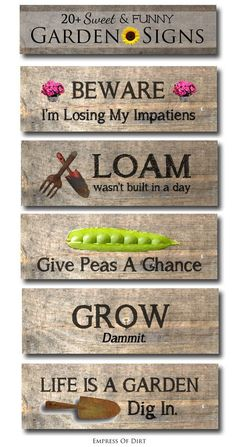 It's funny how one simple garden sign can tell you so much about the gardener. Whether funny, sarcastic, functional, or simply beautiful, an outdoor sign can really set the tone for your garden. What does your garden say about you? Read on as eBay shares twenty sweet and funny garden signs as inspiration to find your own!