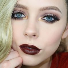 """20.8k Likes, 169 Comments - Haley Wight (@cosmobyhaley) on Instagram: """"Decided to amp up my last makeup look for the tutorial 😈 Video will be up Friday!  Eyes:…"""""""