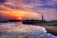 Cape May Lighthouse Sunset, Jersey Shore, US