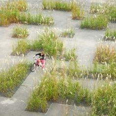 Texture Garden in Kortrijk (Belgium). By Studio Basta and Wagon Landscaping. - Texture Garden in Kortrijk (Belgium). By Studio Basta and Wagon Landscaping. Texture Garden in Kort - Landscaping Supplies, Landscaping Tips, Garden Landscaping, Contemporary Landscape, Urban Landscape, Landscape Design, Plant Design, Garden Design, Design Jardin