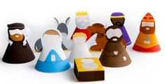 "Christmas Time - DIY Nativity Set Papercraft - by Marloes De Vries == Dutch designer Marloes De Vries says: - ""A while back I made a DIY nativity set. You (or your kids) can craft your own nativity set by simply printing my template. Nativity Crafts, Christmas Nativity, Noel Christmas, All Things Christmas, Nativity Sets, Xmas, Free Christmas Printables, Christmas Activities, Free Printables"