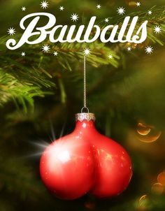 """A UK Charity is using these """"uniquely shaped"""" ornaments, """"Bauballs"""", to raise awareness about men's health this holiday season."""