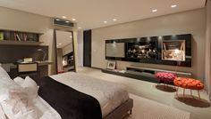 movel para a parede na frente da cama ideias para quarrtos de casal assim eu gosto