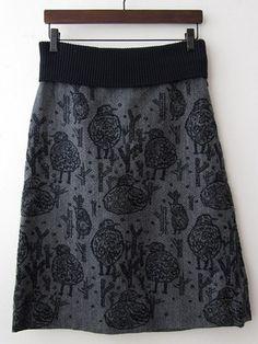 mina perhonen- stamp an old skirt