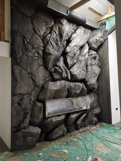 Big stone wall design by Naturedecor Stone Wall Design, Fake Rock, Aquarium Setup, Aquarium Backgrounds, Wall Art Wallpaper, Stone Cladding, Rock Formations, Personal Space, 3d Background