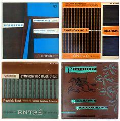 Ronald Clyne record album designs, c. early 1950s. Columbia