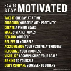 They wrote it as motivation for fitness goals, but it can work in many areas of life.