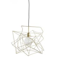 Asymmetric Shiny Gold Ceiling Lamp Shade by House Doctor DK