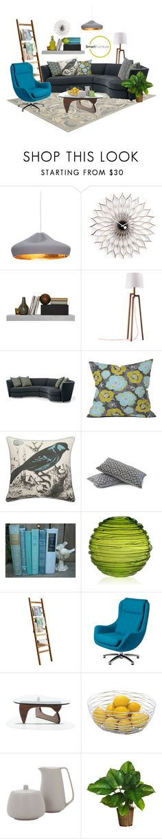 """""""Smart Furniture Living"""" by rotunda ❤ liked on Polyvore featuring interior, interiors, interior design, home, home decor, interior decorating, Marset, WALL, DENY Designs and Thomaspaul"""