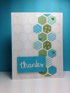 Hexagon cover plate, PTI, by beesmom - Cards and Paper Crafts at Splitcoaststampers