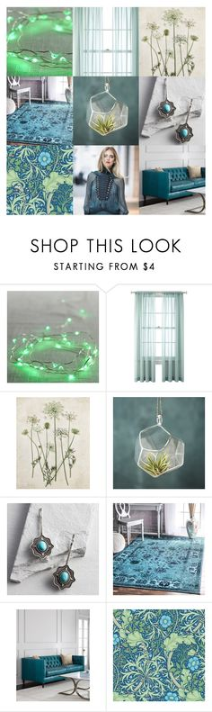 """Turquoise & Green"" by annacullart ❤ liked on Polyvore featuring interior, interiors, interior design, home, home decor, interior decorating, Pier 1 Imports, Cost Plus World Market, nuLOOM and William Morris"