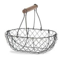 Stella Oblong Wire Mesh Fixed Handle Basket - Medium 7in