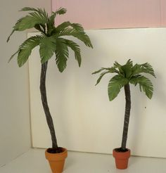 Dollhouse miniature palm trees by minieoriginals on Etsy