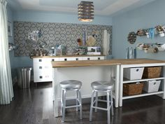 Dream Craft Room by HGTV's Sarah Richardson. Gorgeous! http://www.hgtv.com/on-tv/sarahs-suburban-house-new-home-classic-style/pictures/page-25.html?soc=pinterest