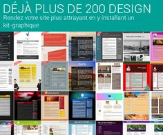 Plus de 200 design de Kit Graphique ;) #kitgraphique #webdesign  #Wifeo