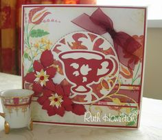 A Passion For Cards: Flowers made with the leaf punch from the Tonic Studios Rose, Pansy Punch and Stamp set 701e