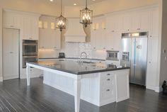 Amazing kitchen love the double oven! Somewhat my dream kitchen! New Kitchen, Kitchen Interior, Kitchen Design, Kitchen Ideas, Kitchen White, Beautiful Kitchens, Cool Kitchens, Dream Kitchens, Cottage Kitchens
