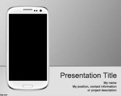 Mobile Apps PowerPoint Template is a free mobile PowerPoint template with a nice Samsung smartphone in the master slide