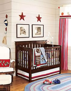 Sports nursery. I had no clue what I wanted for a boy's nursery, but my hubby wants it to be sports themed or baseball themed. I guess that will be the theme if we have a boy. :o)