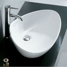 Prado White Triangular Counter Top Basin Without A Tap Hole 585x390x140mm - Countertop Basins - Basins - Bathroom