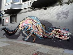 Nychos born in 1982 in Styria is an Austrian urban artist and graffiti illustrator.[[MORE]]He grew up in a hunting family. Getting confronted by the anatomy of dead animals at an early age and being an 80's kid with an interest for cartoons and heavy metal ended up being some of the ingredients which inspired him when he started graffiti and painting at the age of 18. Over the years he developed a distinctive style which stands out – his dissections and cross sections of human and animal…