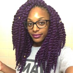 "12"" Purple Havana Mambo Crochet Twist!"