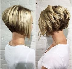 10 Trendy Stacked Hairstyles for Short Hair: Practicability Short Hair Schn . - 10 trendy stacked hairstyles for short hair: practicality short hair cuts // # Sta - Graduated Bob Hairstyles, Stacked Bob Hairstyles, Short Hairstyles For Thick Hair, Short Bob Haircuts, Modern Hairstyles, Curly Hair Styles, Hairstyles 2016, Medium Hairstyles, Swing Bob Hairstyles