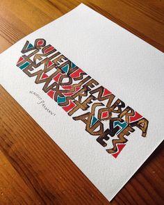Quien siembra viento cosecha tempestades Cool Lettering, Lettering Styles, Lettering Design, Hand Lettering, Brush Lettering, Calligraphy Text, Calligraphy Practice, Stylish Alphabets, Font Art