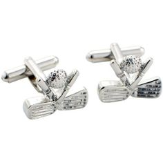 Crossed Clubs Golf Golfer Silver Cufflinks Sports Cuff Links Fantasyard. $18.59. Other color available. Exquisitely detailed designer style. Gift box available for an additional fee. Please check out through gift-wrap option. Save 35%!