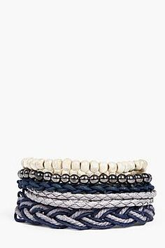 Wooden Bead And Rope Multipack Bracelet