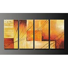 @Overstock - Title: Sunset  Image Dimensions: 64 inches wide x 32 inches high  Product Type: Canvas Arthttp://www.overstock.com/Home-Garden/Sunset-Hand-painted-Oil-on-Canvas-4-piece-Art-Set/4512208/product.html?CID=214117 $138.99