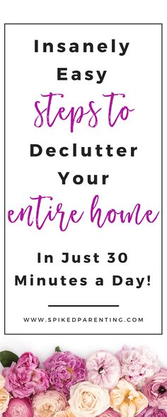 This free home organizing training will teach you how to declutter your entire home, even if you're completely overwhelmed! The Total Transformation Home Decluttering Challenge - In Just 30 Minutes a Day! | SpikedParenting #totaltransformation #decluttering #homeorganization #organizingchallenge