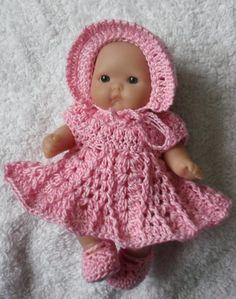 PDF Crochet pattern for Berenguer 5 inch baby doll by petitedolls