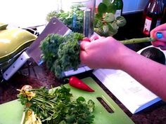 This is the quick and easy way to de-stem your kale, for all of those delicious kaley recipes!